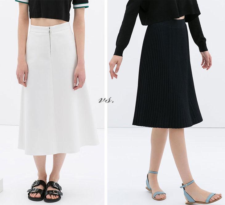 midi skirt hem length, how to hem skirt, best hem length