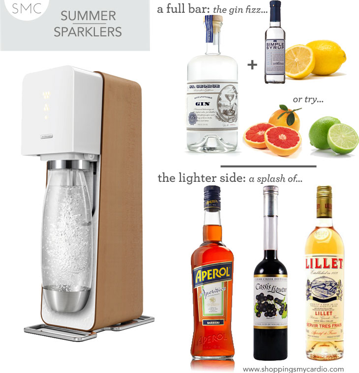 sodastream summer cocktails, summer cocktails, summer drinks with low alcohol, light summer drinks, summer cocktail recipes