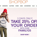 shopbop F&F is here! (expired)