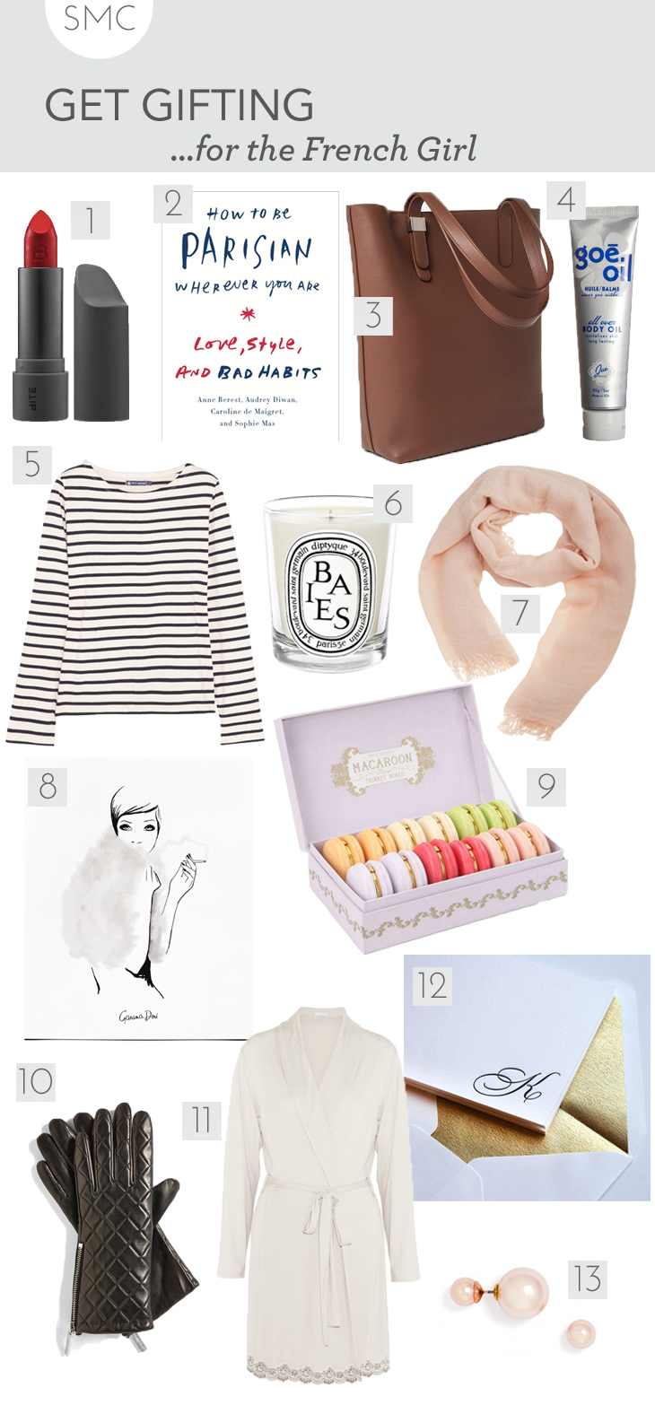 french gift guide, paris gift guide, style gift guide, chic gift guide, girl gift guide