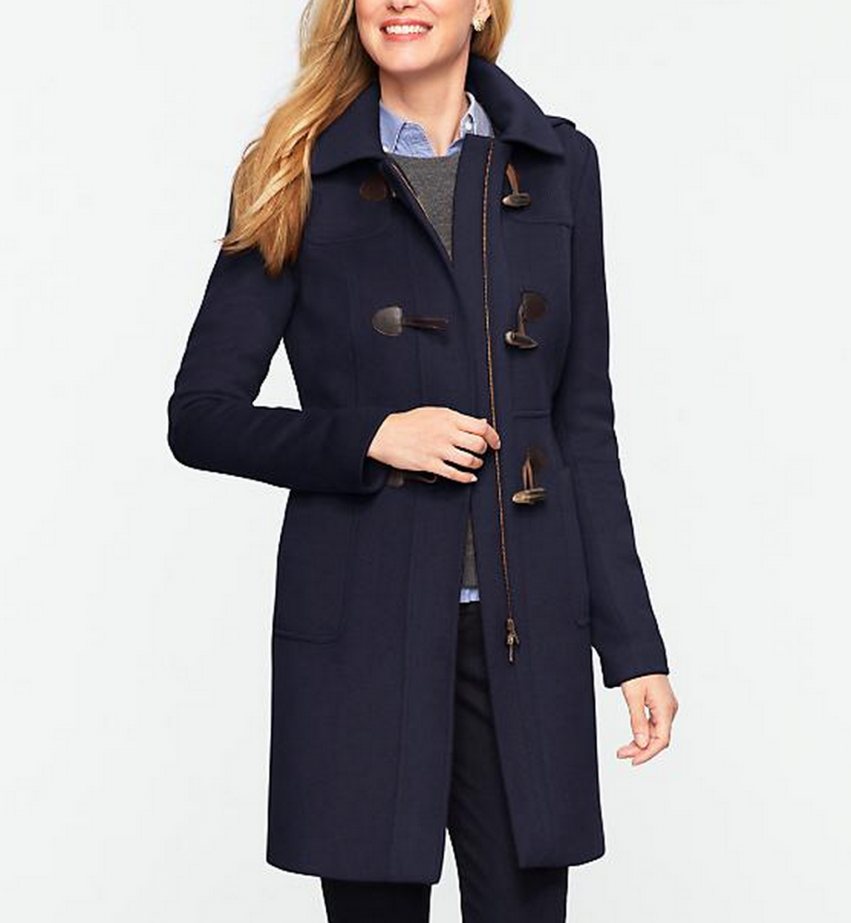 talbots toggle coat