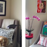this or that: styling a cozy reading nook